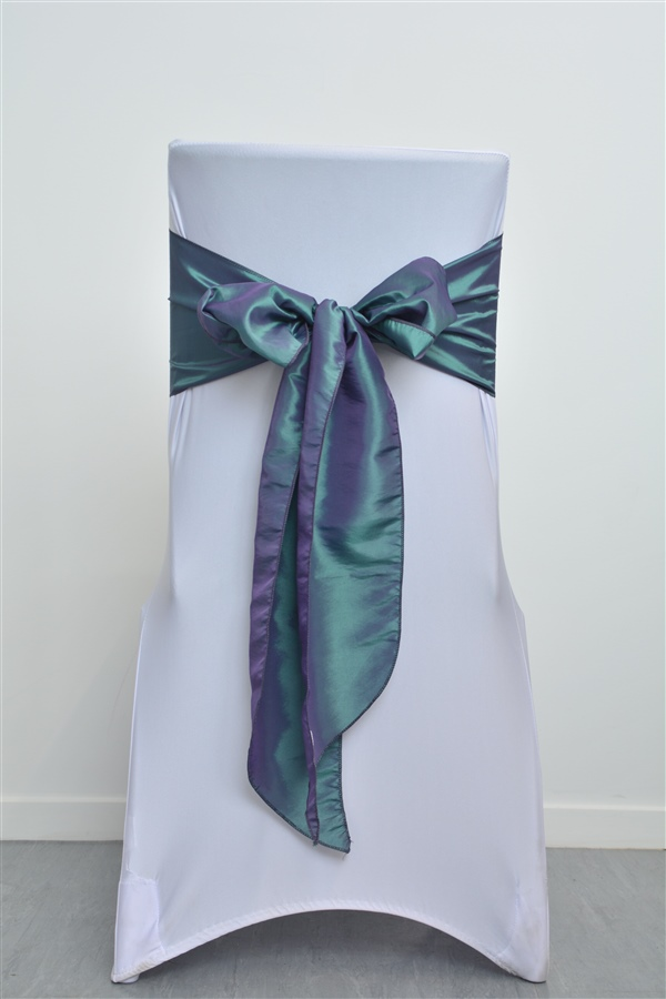 Dual Blue & Green Solid Sash