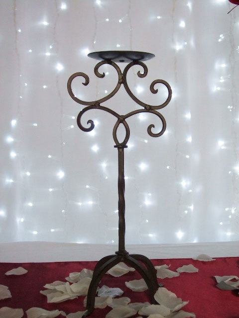 Brass One Piece Candelabra