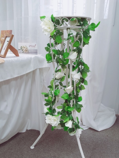 Flower Stand with Artificial Flower