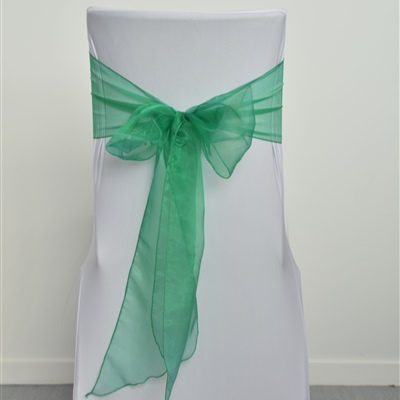 Forest Green Organza Sash