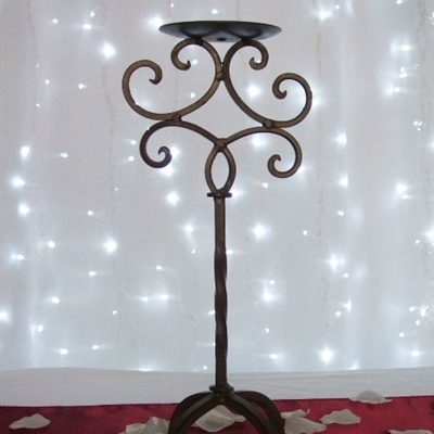 Brown One Piece Candelabra