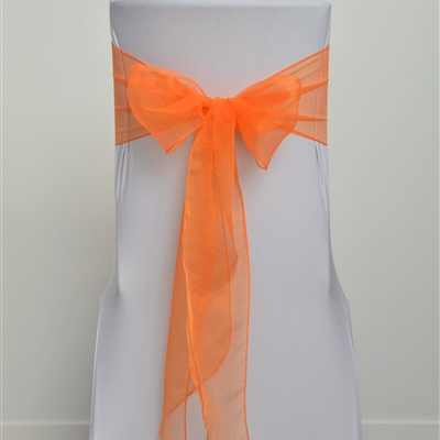 Bright Orange Organza Sash