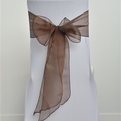 Brown Organza Sash