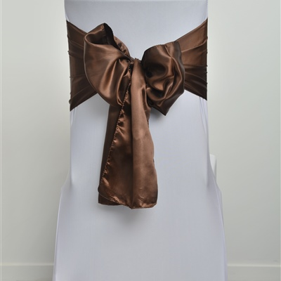 Brown Satin Sash