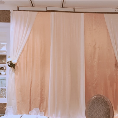Backdrop Curtains ( Ivory Satin Curtains)
