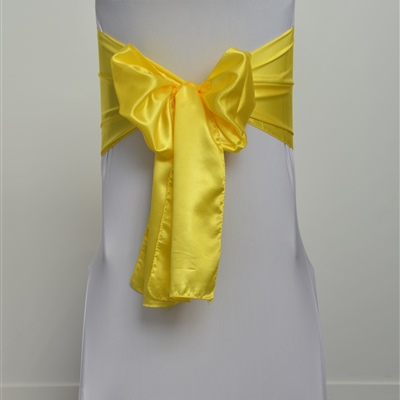Lemon Satin Sash