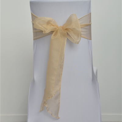Old Gold Organza Sash