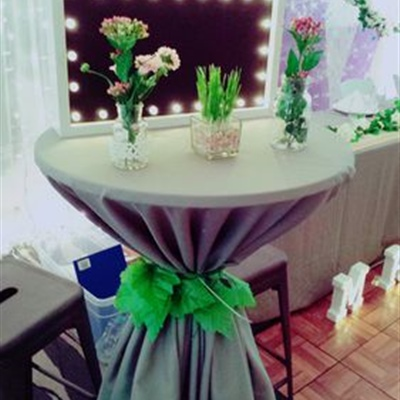 Grey Square Table Cloth