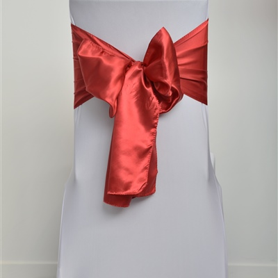 Dark Red Satin Sash