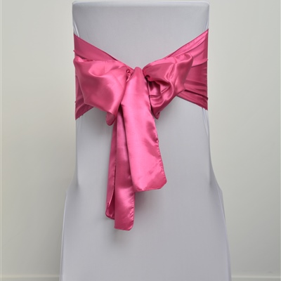 Hot Pink Satin Sash