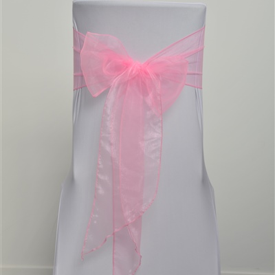 Medium Pink Organza Sash
