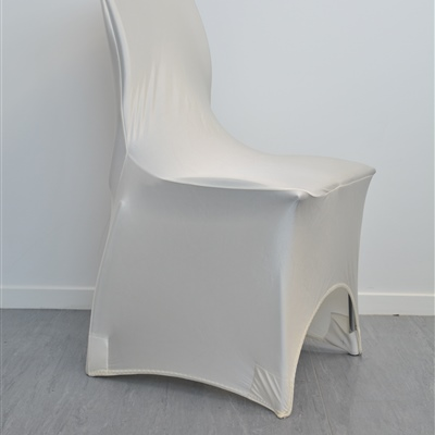 Lycra Chair Cover_Ivory