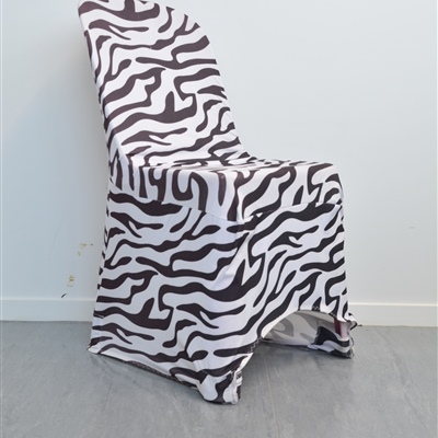 Zebra Print Lycra Chair Cover